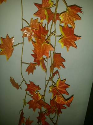 7ft red/ orange  Ivy/maple leaf vines vivarium plants/ decoration