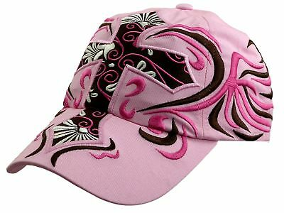 Ladies Cap Pink Cross