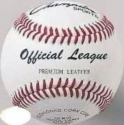 Champion Sports Official League Premium Cowhide Leather Baseball. Best Price