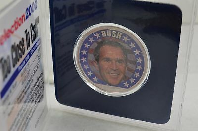 Presidential Collection Colorized 2000 Silver Eagle Dollar George W. Bush  CO-17