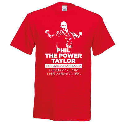 Phil The Power Taylor PDC Darts World Champs 2017 Retirement T-Shirt Unisex S-XL