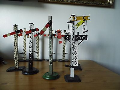 Hornby 0 gauge and similar signals. Job lot of 9