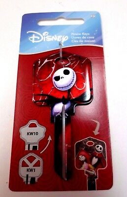JACK & Sally Kwikset KW1 House Key Blank / D105 Authentic Disney House Keys