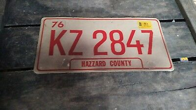 Dukes of Hazzard Original Prop Cardboard Licence Plate
