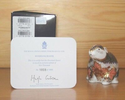 Royal Crown Derby Riverbank Beaver paperweight (limited edition)