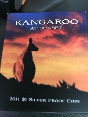 2011  Kangaroo At Sunset Silver Coin