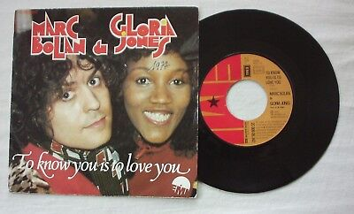 Marc Bolan & Gloria Jones - To Know You Is To Love You - French Issue - 7""