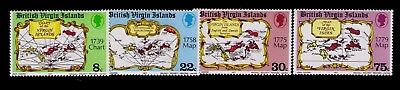 1977 Virgin Islands stamps,Islands Chart Sc# 320-23 Cpl.MNH set,CV:$4.00