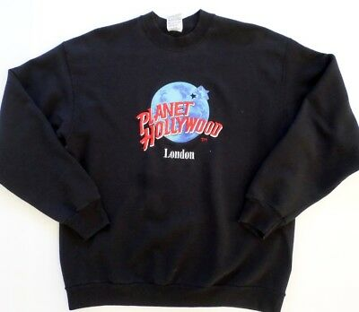 Planet Hollywood London Embroidered Logo Sweatshirt Black Size XL Men's Women's