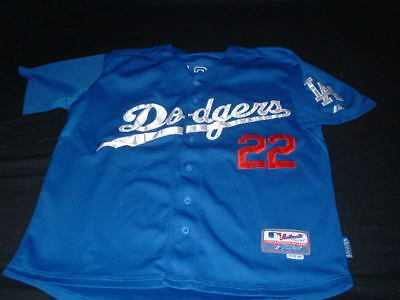 LA Dodgers MLB USA United States Baseball Large Mans Kershaw no22 Majestic Shirt