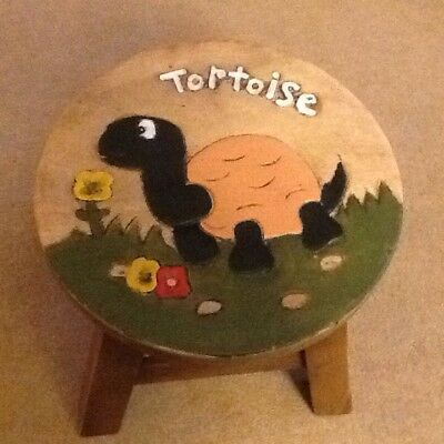 Childs Vintage Wooden Stool Excellent Condition Well Made Quality Item