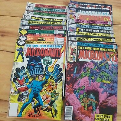 Lot of 18 Marvel The Micronauts comics from 1970's to 1980's - Fair to Good