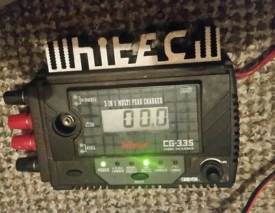 Lipo HITEC CHARGER CG 335 3 IN 1 MULTIPEAK CHARGER used from your cars 12volt