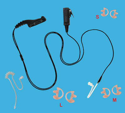 Straight Air Tube Earpiece for Motorola Mototrbo XPR 6380 XPR 6500 XPR 6550 SRX