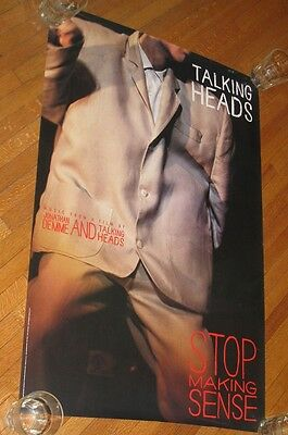 """TAlKING HEADS 36"""" TALL X 24"""" WIDE BIG PROMO POSTER FOR STOP MAKING SENSE 1984"""