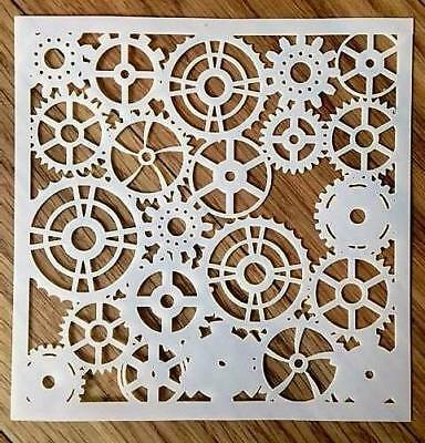 Cogs Stencil Art Crafts Cards Cakes Gears Steampunk