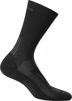 (Medium, Black) - Icebreaker Men's Hike Light Crew Socks. Free Delivery