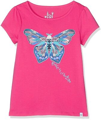 (Small, Pink (rosy Pink)) - Animal Girl's Flutterfly T - Shirts