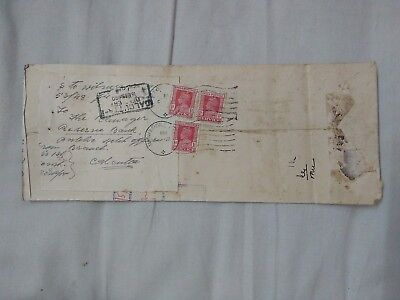 Interesting Cover India Midnapore Cds With Kg Vi Stamps X 3 Ad1.19