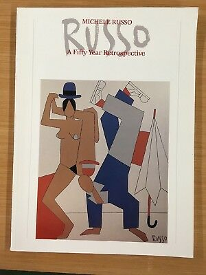 Michele Russo 50 year Retrospective Exhibition 1988 Catalog Modern Art