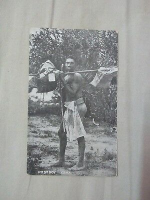 South West Africa Post Card Mail Carrier Native Runner Ad1.20
