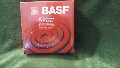 """Floppy Diskettes 5.25"""" Inch 2S/2D by BASF pack of 10"""