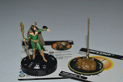 Marvel Heroclix The Mighty Thor Loki Chase 066 & Loki's Staff S014