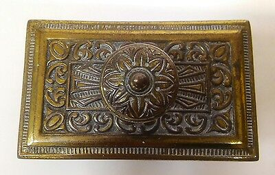 Antique Vintage Ornate Brass Metal Letterpress