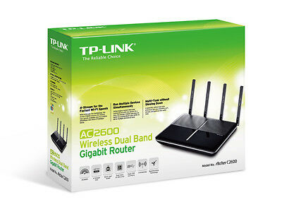 TP-Link Archer C2600 Router Gigabit Wireless Dual Band AC2600