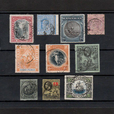 Bahamas & Barbados Selected Vintage Stamps From Queen Victoria To King George V