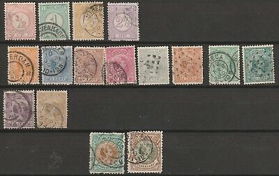 Netherlands 1876-1896, Numberals complete, queen wilhelmina almost mixed quality