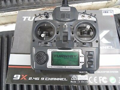 turnigy 9x transmitter & receiver new! with your choice of backlight! installed!