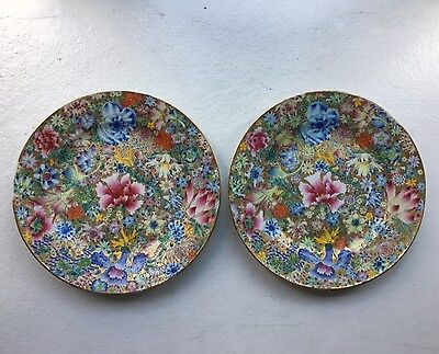 A Pair of Famille Rose Plate, Republic Period, D. 25CM