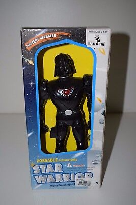 """Star Warrior Darth Vader 10"""" Poseable Action Figure Parody Mighty Peacekeepers"""