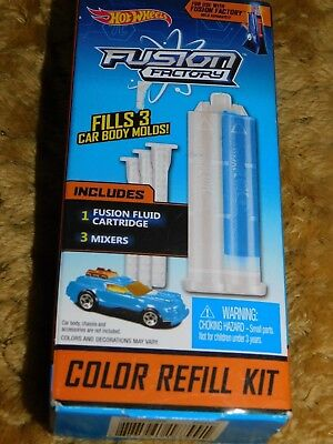 Hot Wheels Fusion Factory Blue Color Refill Kit Fills 3 Car Body Molds