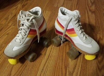 "Vintage Free Former California Roller Skates Boys 3"" Womens Size 5"""