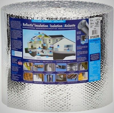 Reflectix 16 in. x 100 ft. Double Reflective Insulation with Staple Tab New