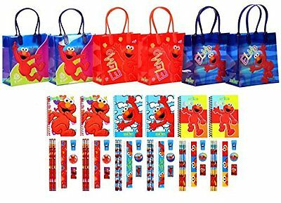 54 pc Sesame street Elmo reusable birthday Party Favor Goodie Gift Bags 6 sets