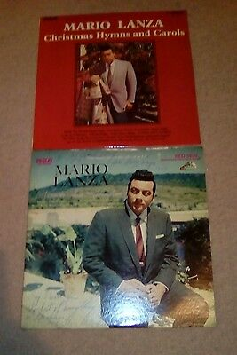 Mario Lanza-Christmas Hymns & Carols-1969+Younger Than Springtime(Signed)2 X Lps
