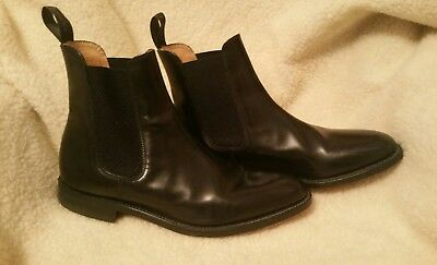 Mens Loake boots Vintage Size 8 Style 290B black barely worn Black leather