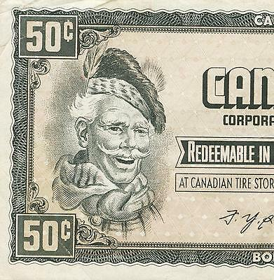 Canadian Tire Money Vintage note  50 cent