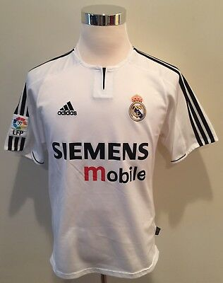a3cded321 Vintage David Beckham Real Madrid Adidas Jersey Climalite Siemens Authentic  Sz M