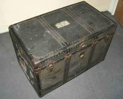 Large Antique Steamer Trunk Late 1800's