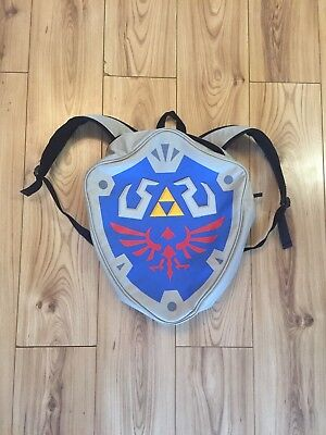Authentic Nintendo The Legend Of Zelda Link Blue Hylian Shield Backpack Cosplay