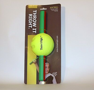 Throw It Right Softball Training Aid Throwing Aid Throw Harder & Accurately