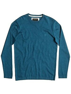 (Large, Moroccan Blue) - Quiksilver Men's Everykelvincrew Pull-Over