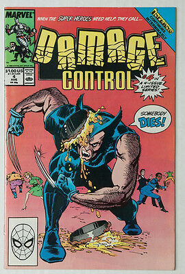 DAMAGE CONTROL # 4  Wolverine cover Marvel 1989 VF+