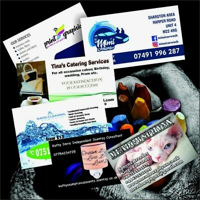 Business Cards Single Sided Full Colour 24h Dispatch Premium Quality 350gsm