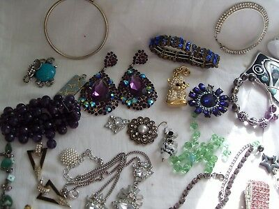 Job Lot Costume Jewellery Repair/spares/harvest,earrings,necklaces Alsorts