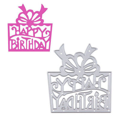 DIY Steel Cutting Dies Stencil Scrapbook Embossing Card Craft-Happy Birthday